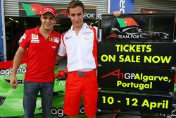 Felipe Massa, Filipe Albuquerque, driver of A1 Team Portugal