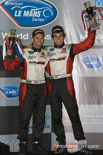 GT2 podium: third place Dominik Farnbacher and Ian James