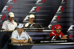 FIA press conference: Robert Kubica, BMW Sauber F1 Team, Jenson Button, Brawn GP, Sebastian Vettel, Red Bull Racing, Felipe Massa, Scuderia Ferrari