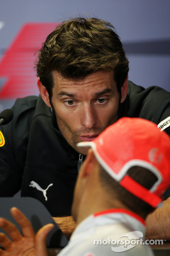 FIA press conference: Mark Webber, Red Bull Racing, Lewis Hamilton, McLaren Mercedes