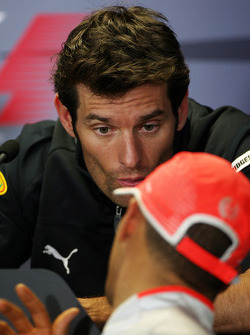 FIA press conference: Mark Webber, Red Bull Racing, Lewis Hamilton, McLaren Mercedes