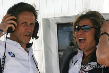 Roberto Ravaglia, ITA, Team Manager and Daniela Zanardi, wife of Alex Zanardi