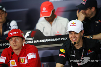 FIA press conference: Kimi Raikkonen, Scuderia Ferrari, Sebastian Vettel, Red Bull Racing