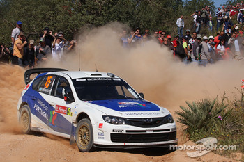 Marcus Gronholm and Timo Rautianen, Subaru Impreza WRC 08