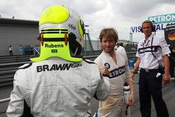 Rubens Barrichello, Brawn GP and Nick Heidfeld, BMW Sauber F1 Team