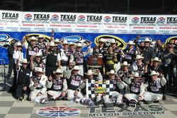 Victory lane: race winner Jeff Gordon, Hendrick Motorsports Chevrolet, celebrates with his team