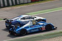 #17 Pescarolo Sport Pescarolo - Judd: Bruce Jouanny, Joao Barbosa, #96 Virgo Motorsport Ferrari F430 GT: Michael McInerney, Sean McInerney, Michael Vergers
