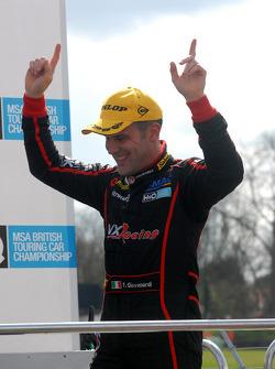Fabrizio Giovanardi steps onto the podium