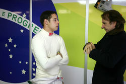Felipe Guimaraes, driver of A1 Team Brazil and Emerson Fittipaldi, Seat Holder of A1 Team Brazil
