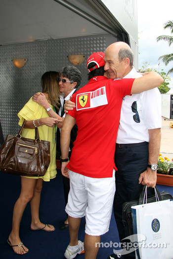 Felipe Massa with Peter Sauber