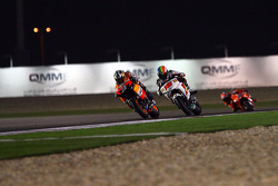Dani Pedrosa, Repsol Honda Team and Alex De Angelis, San Carlo Honda Gresini battle