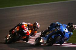 Dani Pedrosa, Repsol Honda Team and Chris Vermeulen, Rizla Suzuki MotoGP