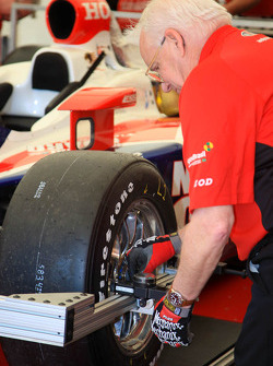 Panther Racing car of Dan Wheldon at tech inspection