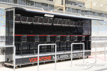 Pit wall of McLaren Mercedes