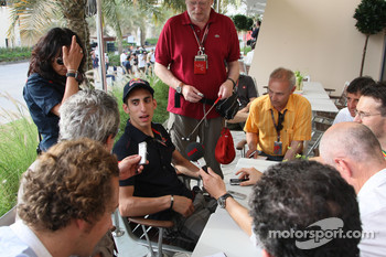 Interview session with Sebastien Buemi, Scuderia Toro Rosso