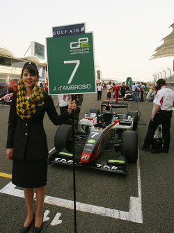 Grid girl of Jerome D'Ambrosio, DAMS