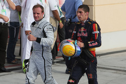 Rubens Barrichello, Brawn GP and Sebastien Buemi, Scuderia Toro Rosso