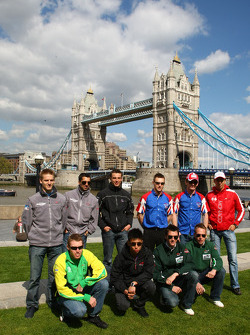 A1GP Drivers visit London