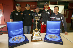 Michael Bartels, Andrea Bertolini, Thomas Biagi, Karl Wendlinger and Ryan Sharp with the Tourist Trophy