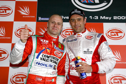 GT2 pole winner Gianmaria Bruni and GT1 pole winner Karl Wendlinger