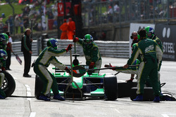 Adam Carroll, driver of A1 Team Ireland pit stop