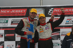 GT podium: class winners Leh Keen and Dirk Werner