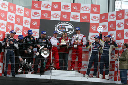 GT1 podium: class and overal winners Karl Wendlinger and Ryan Sharp, second place Michael Bartels and Andrea Bertolini, third place Xavier Maassen and Guillaume Moreau