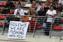 Banners in the crowd for Lewis Hamilton, McLaren Mercedes