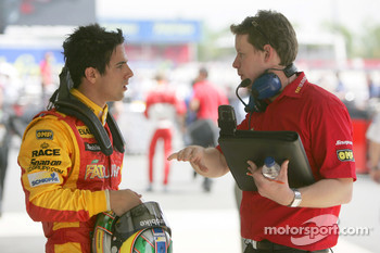 Lucas Di Grassi talks to his engineer