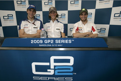 Romain Grosjean, Vitaly Petrov and Jerome D'Ambrosio