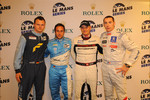 Pole winners: GT2 class Marc Lieb, GT1 class Alex Müller, LMP2 Casper Elgaard, LMP1 and overall Simon Pagenaud