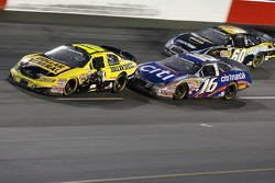 Matt Kenseth makes contact with Brian Scott as Carl Edwards chases