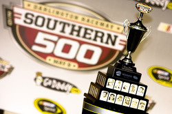 Victory lane: the winning trophy for the Southern 500