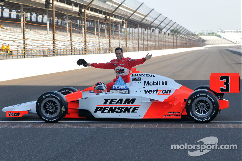 Front row shoot: Helio Castroneves, Penske Racing at Indy 500