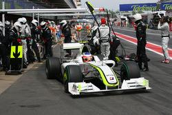 Rubens Barrichello, Brawn GP , BGP 001 pit stop