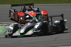 #17 Pescarolo Sport Pescarolo - Judd: Bruce Jouanny, Joao Barbosa; #15 Kolles Audi R10 TDI: Christian Bakkerud, Christijan Albers, Giorgio Mondini