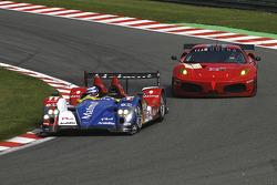 #11 Team Oreca Matmut - AIM Courage-Oreca LC70 - AIM: Oliver Panis, Nicolas Lapierre; #84 Team Modena Ferrari F430 GT: Antonio Garcia, Leo Mansell