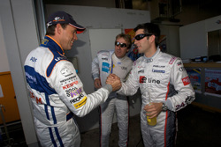 Pole winner Dirk Adorf with Mike Rockenfeller and Frank Biela