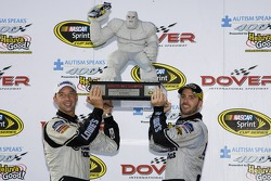 Victory lane: Jimmie Johnson and Chad Knaus celebrate