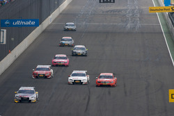 Martin Tomczyk, Audi Sport Team Abt Audi A4 DTM leads a group of cars