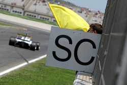 The safety car is deployed in race one
