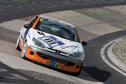 #111 Hengel Competition Peugeot 206 RCC: Fabrice Reicher, René Wolff, Pascal Engel, Harald Rettich
