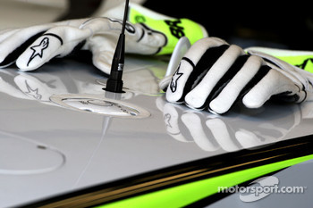 The gloves of Jenson Button, Brawn GP