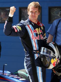 Sebastian Vettel, Red Bull Racing on pole