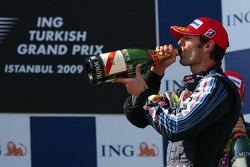 Podium: second Mark Webber, Red Bull Racing
