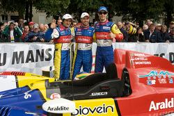 Stéphane Ortelli, Tiago Monteiro and Bruno Senna