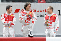 Mike Rockenfeller, Lucas Luhr and Tom Kristensen