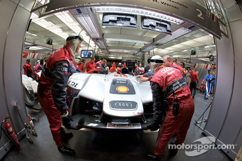 Audi Sport team members at work