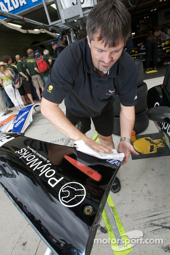 Corvette Racing team member at work