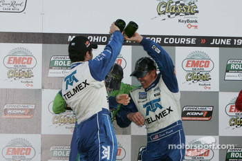 DP podium: class and overall winners Scott Pruett and Memo Rojas